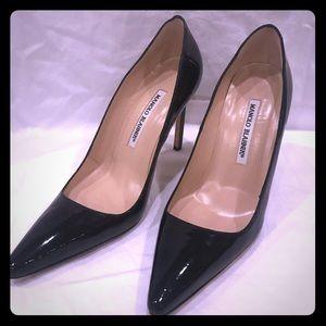 MB Black Patent pointy toe heels